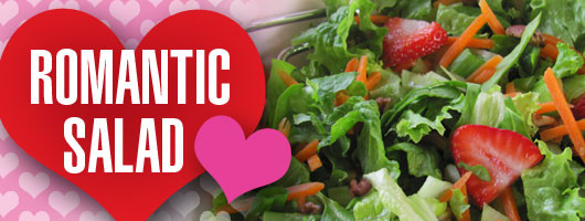 Romantic Salad for Valentine's Day Dinner