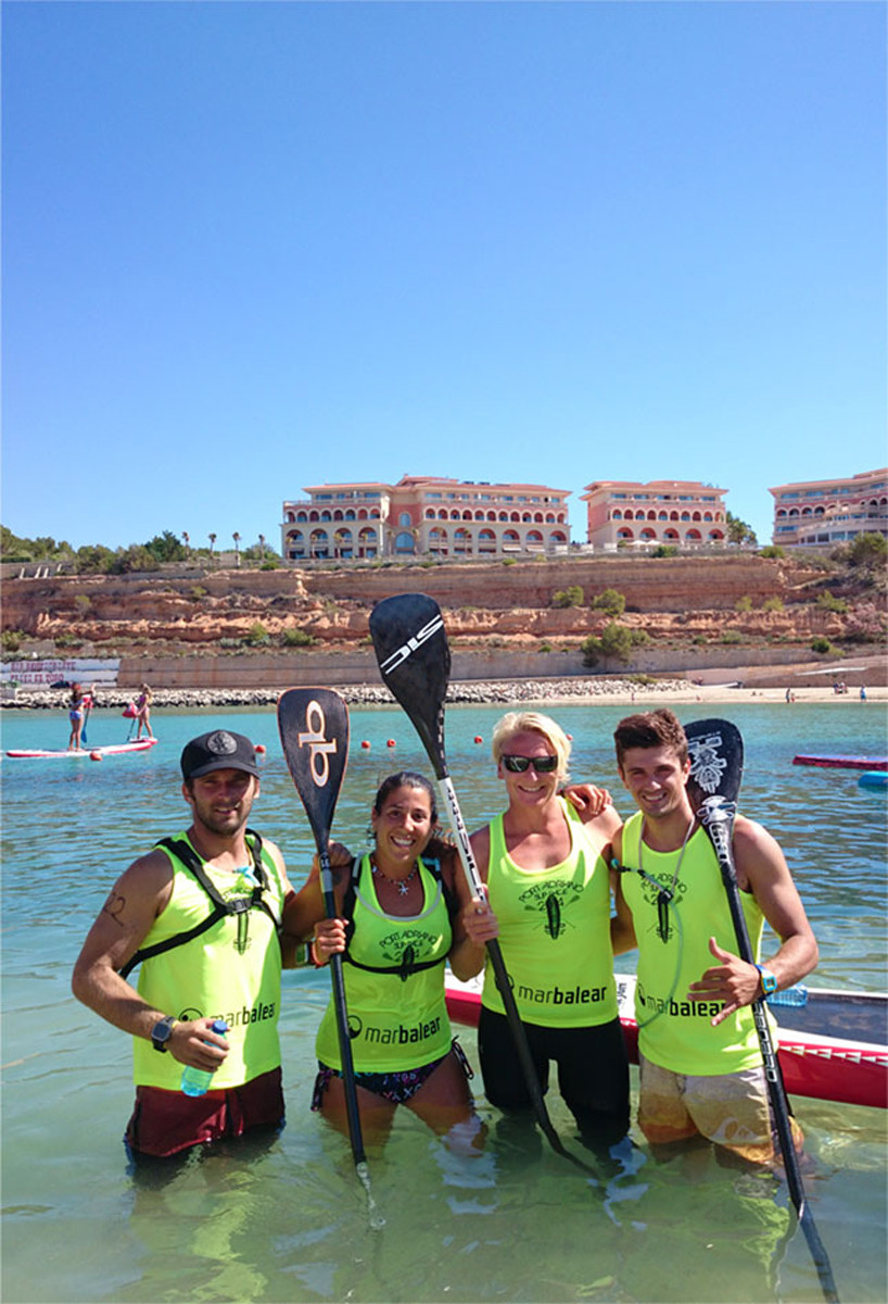 in Mallorca with Eric, Laura and Crew