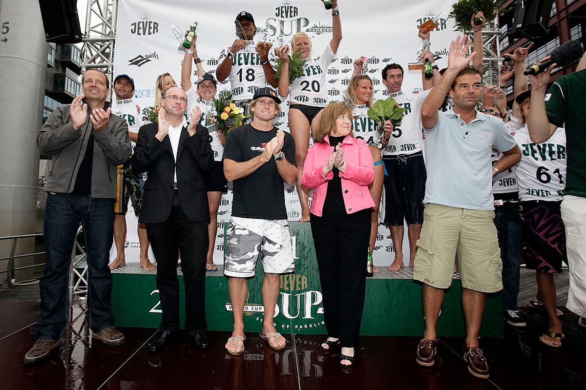 Sup Worldcup in Hamburg prizegiving
