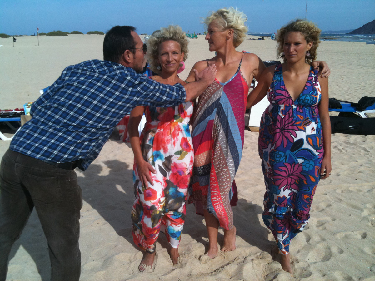 shooting for a german Fashion Mag with my sisters Bitsy and Janni