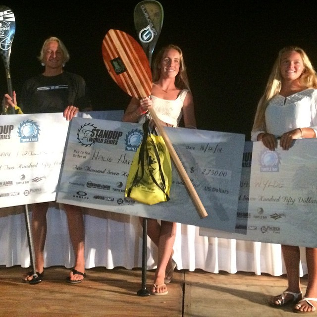 Prizegiving World series Turle Bay Northshore Oahu Oct. 2014 , Third place overall