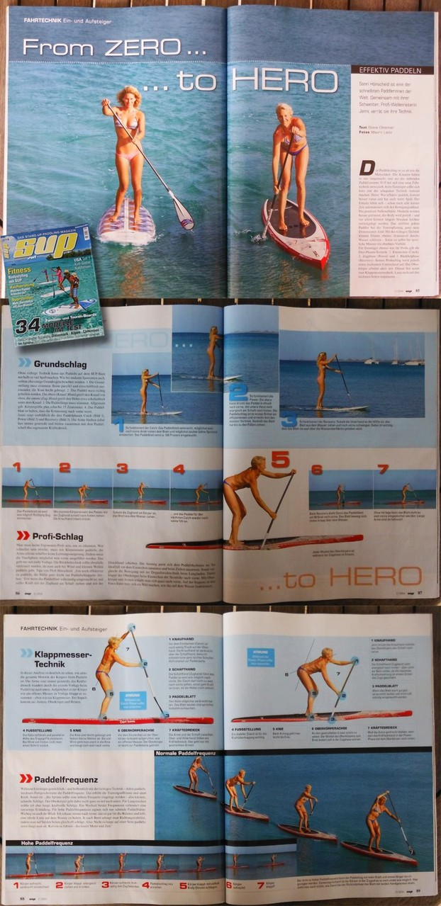 from cero to hero article in german Sup Mag