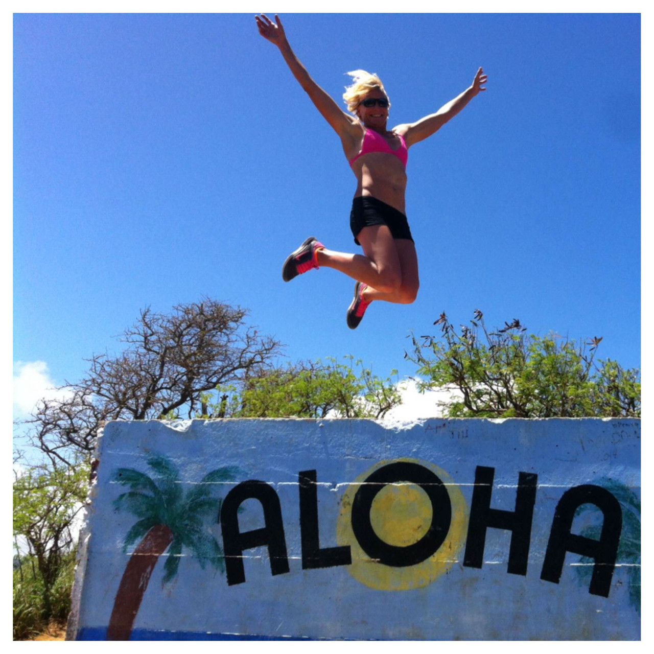 Happy after winning the Molokai2Oahu 2014