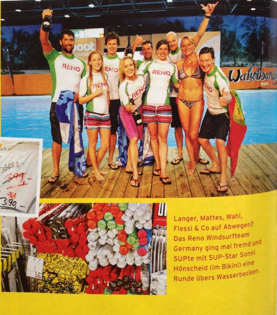 """during boatshow in Düsseldorf, Germany with  """"Lets dance"""" promis and others"""