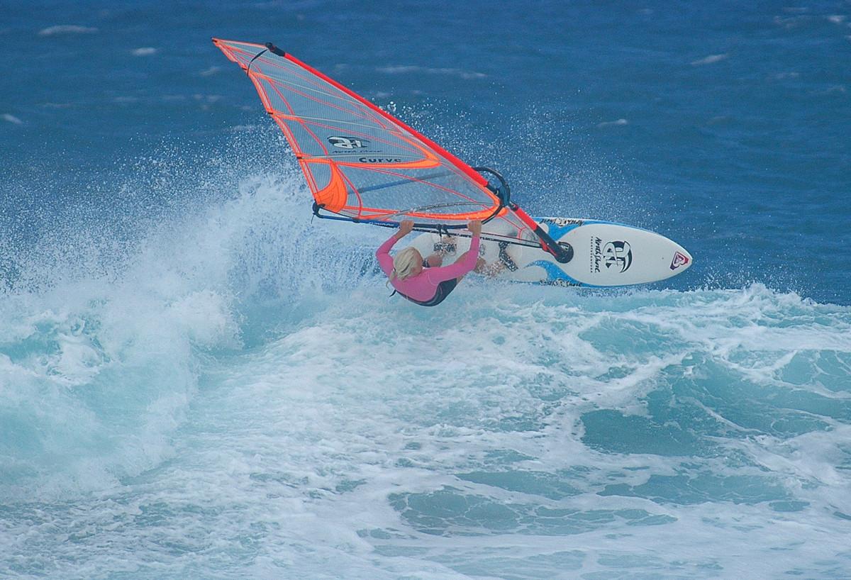 me windsurfing Glass Beach, Fuerteventura