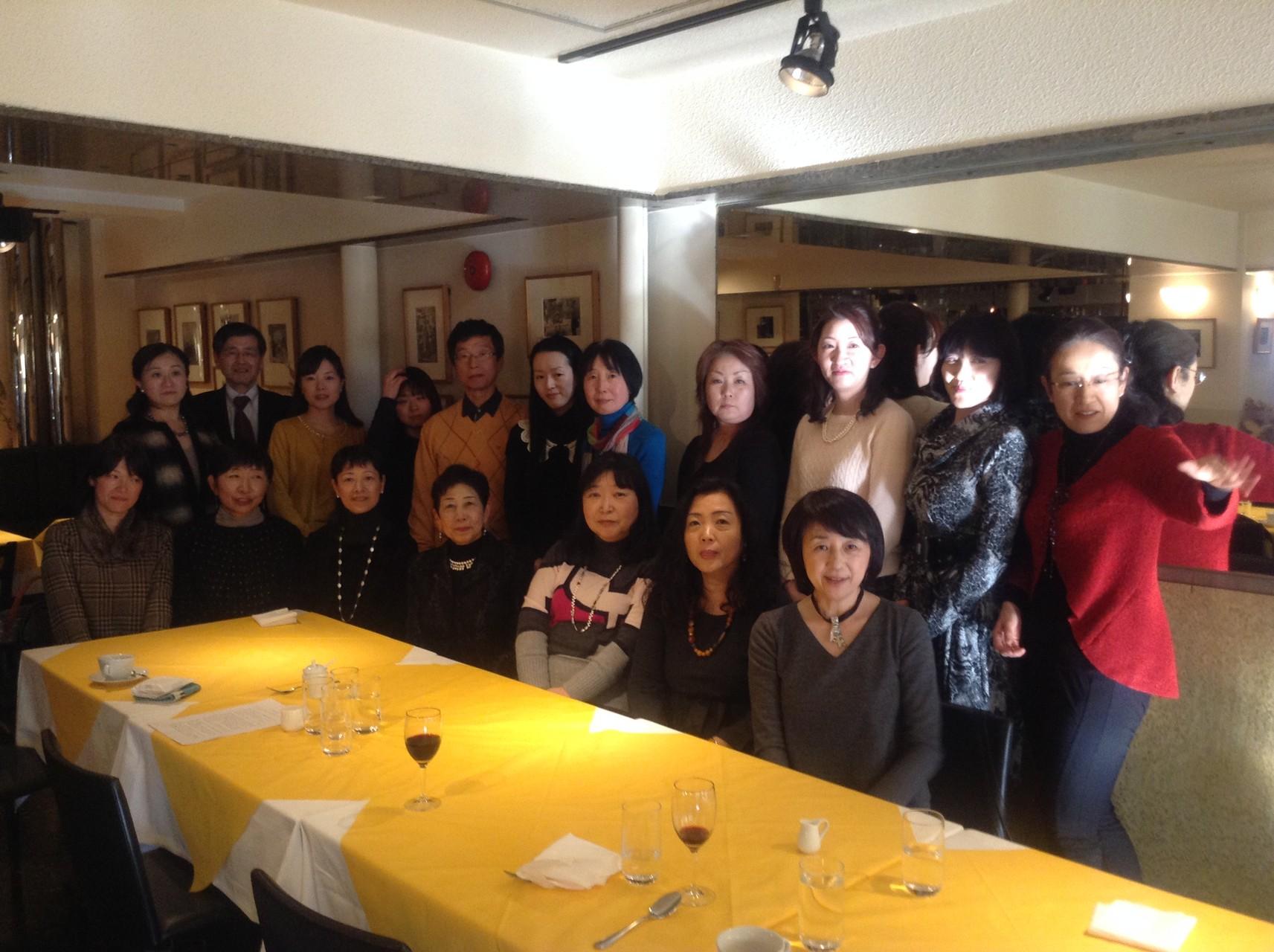 2015年2月11日(水・祝)新年会「ロカンダ・エフェック」にて