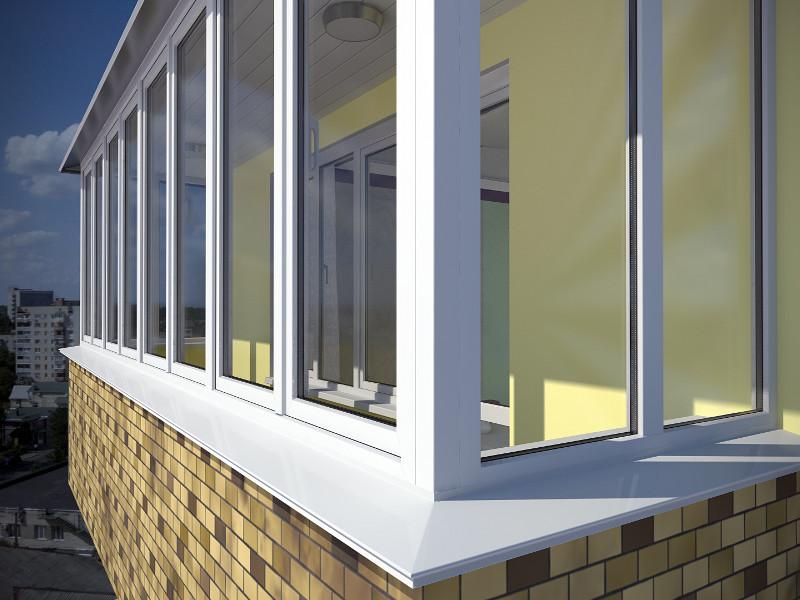 пластиковые окна балкона