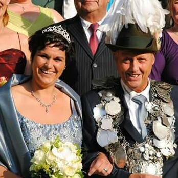 König Dirk Tscherbatko und Bianca Haskamp im Jahr 2016