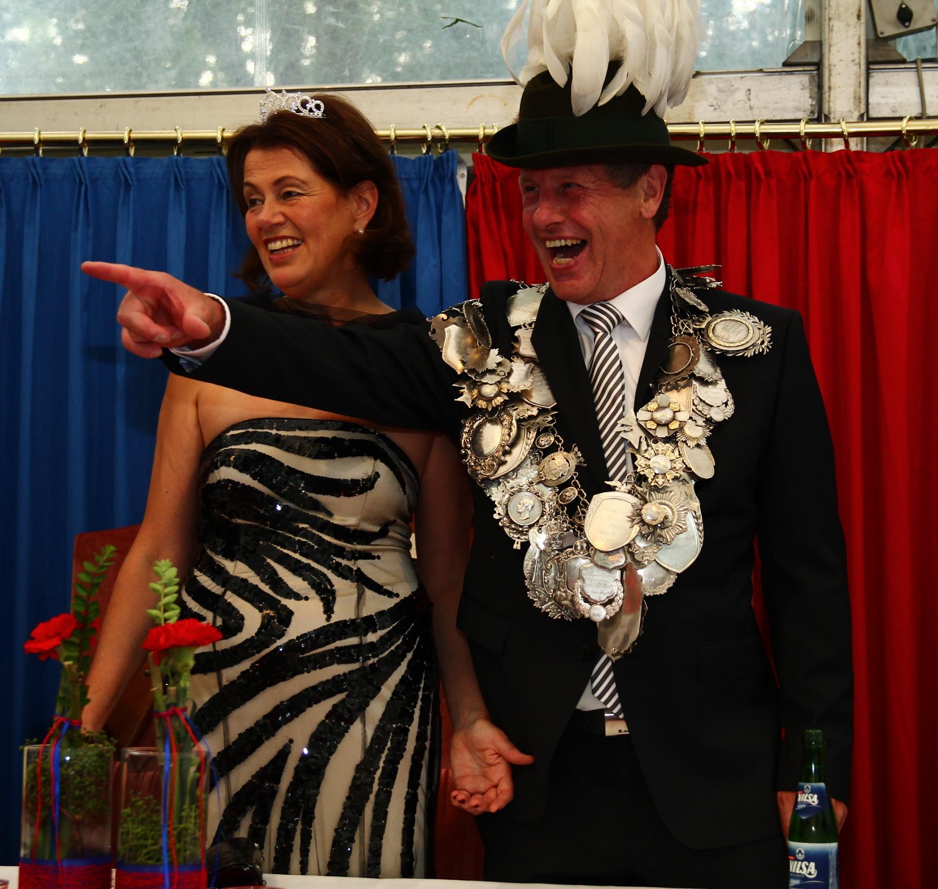 König Hermann Honkomp und Frau Anne im Jahr 2014
