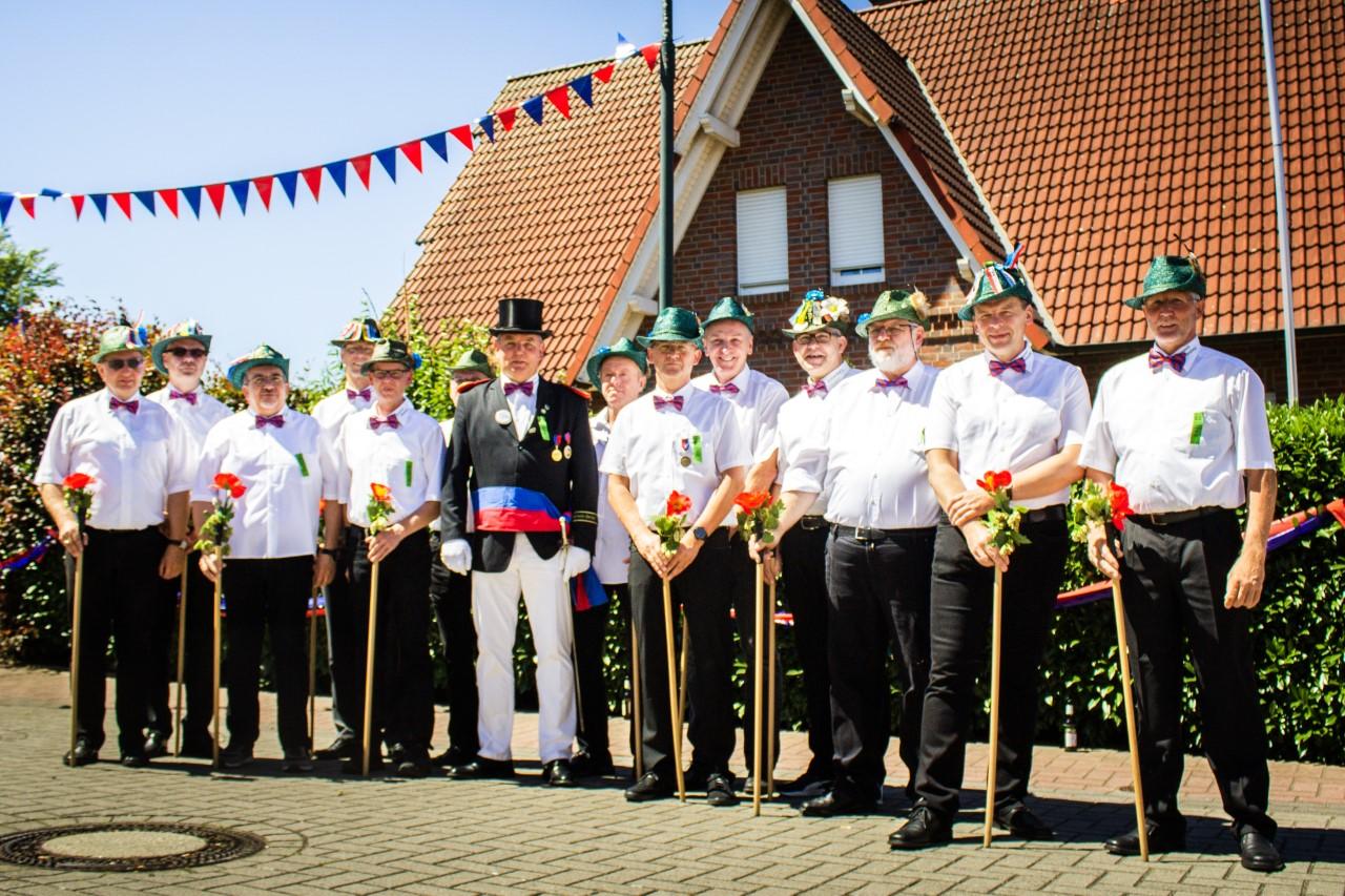 Die Gründungsmitglieder der Kompanie Bökenberg