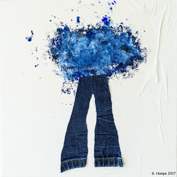 Modern jeans 30x30x4 cm Leinwand