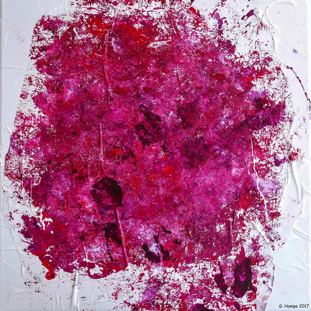 Red abstract chaos 3 30x30x4 cm canvas