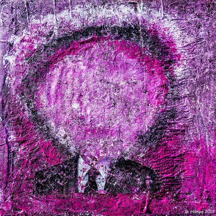 The head with the black tie 30x30x4 cm Leinwand
