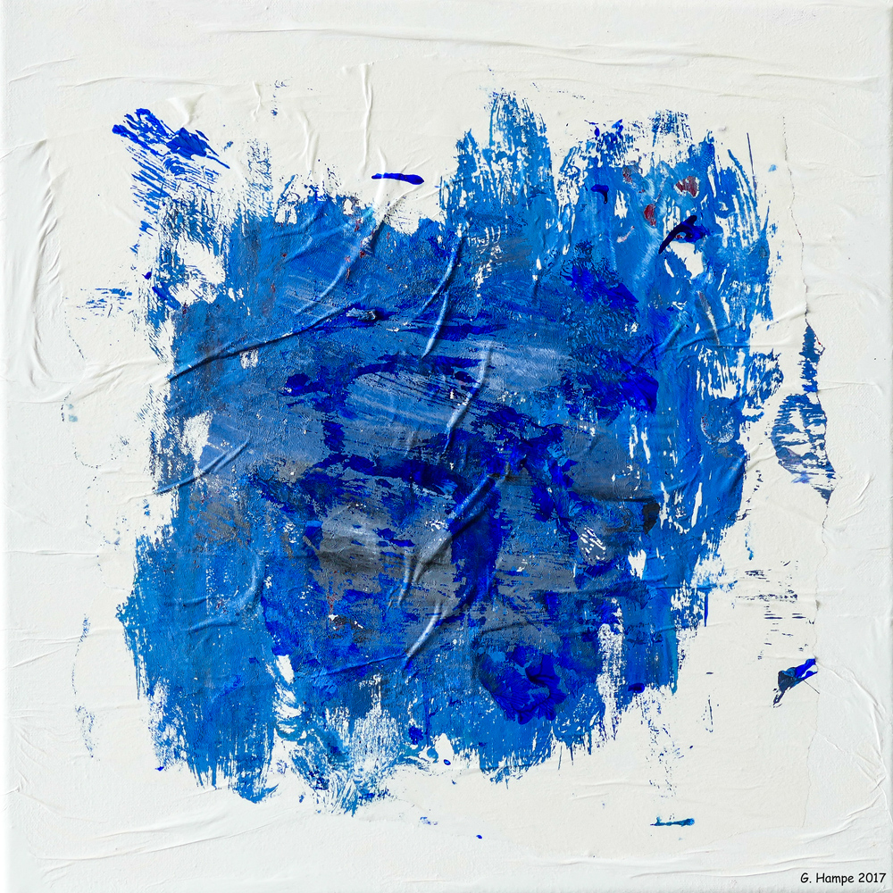 Blue spot 30x30x4 cm Leinwand