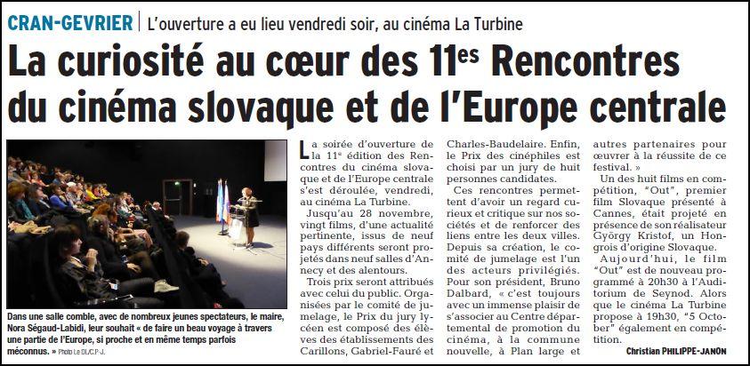 Le Dauphiné Libéré 27/11/2017