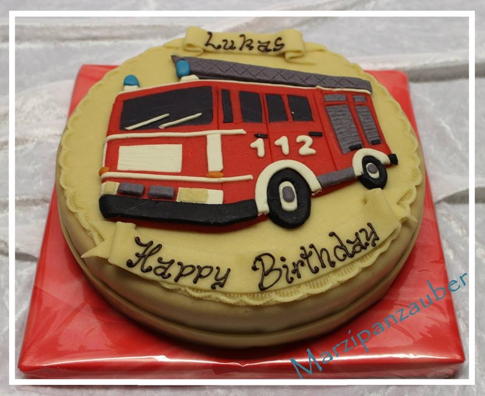 Torte Marzipan Feuerwehr