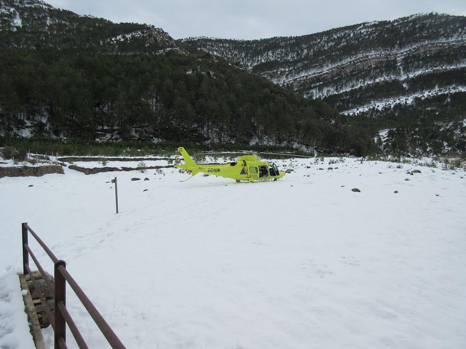 Helicóptero en La Estrella.
