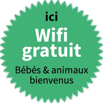 WiFi gratuit. Animaux bienvenus