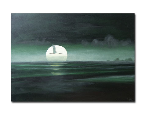 moonlight over the lake - 70x50