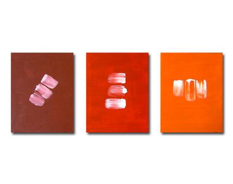 red trio - 3x 24x30