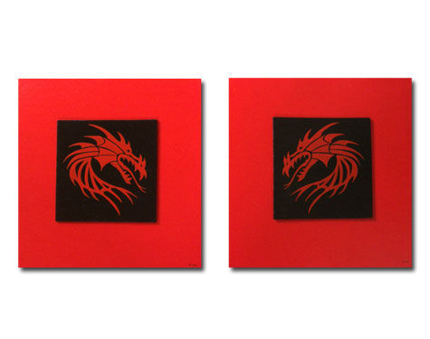 red dragon - 2x 40x40 + 2x 15x15