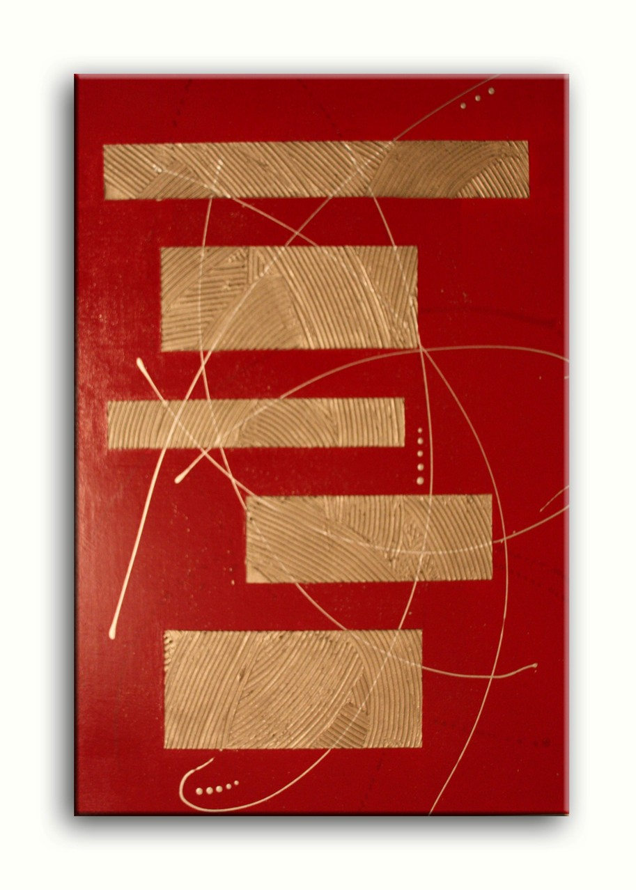 red an gold - 70x100