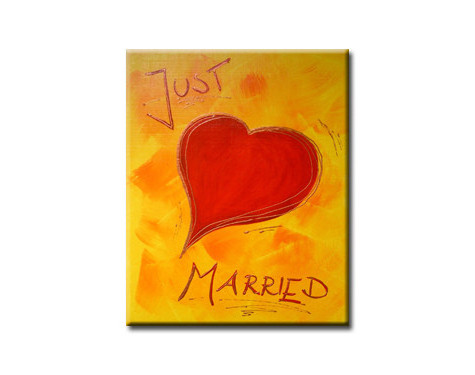 just married - 20x30