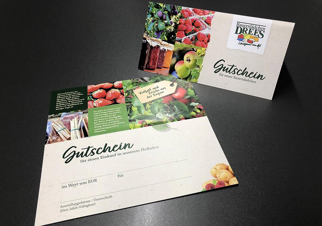 Neue Gutscheine für Bauernlädchen Drees aus Lette