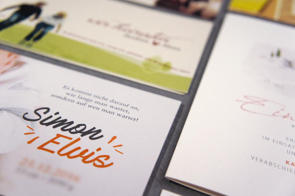 Individuelle Karten und Einladungen von Satzdruck