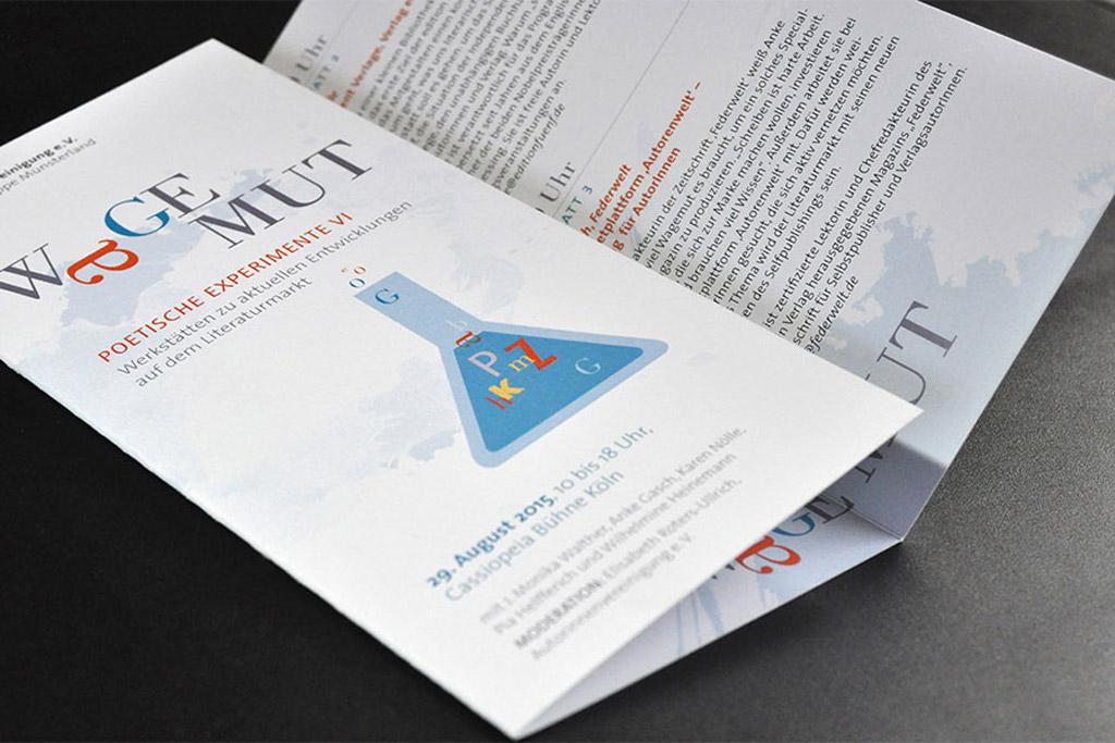 Prospekte, Flyer, Plakate – Entwurf, Satz und Reinzeichnung