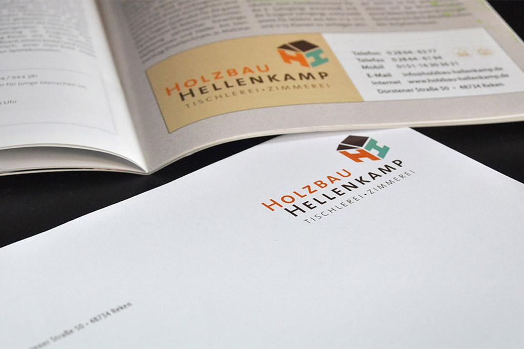 Geschäftsausstattung und Logoentwicklung von Satzdruck
