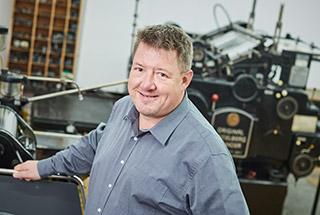 Martin Weigelt Industriemeister Druck und Geschäftsführer bei Satzdruck in Coesfeld