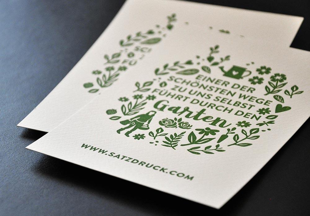 Einladungskarten – Letterpress