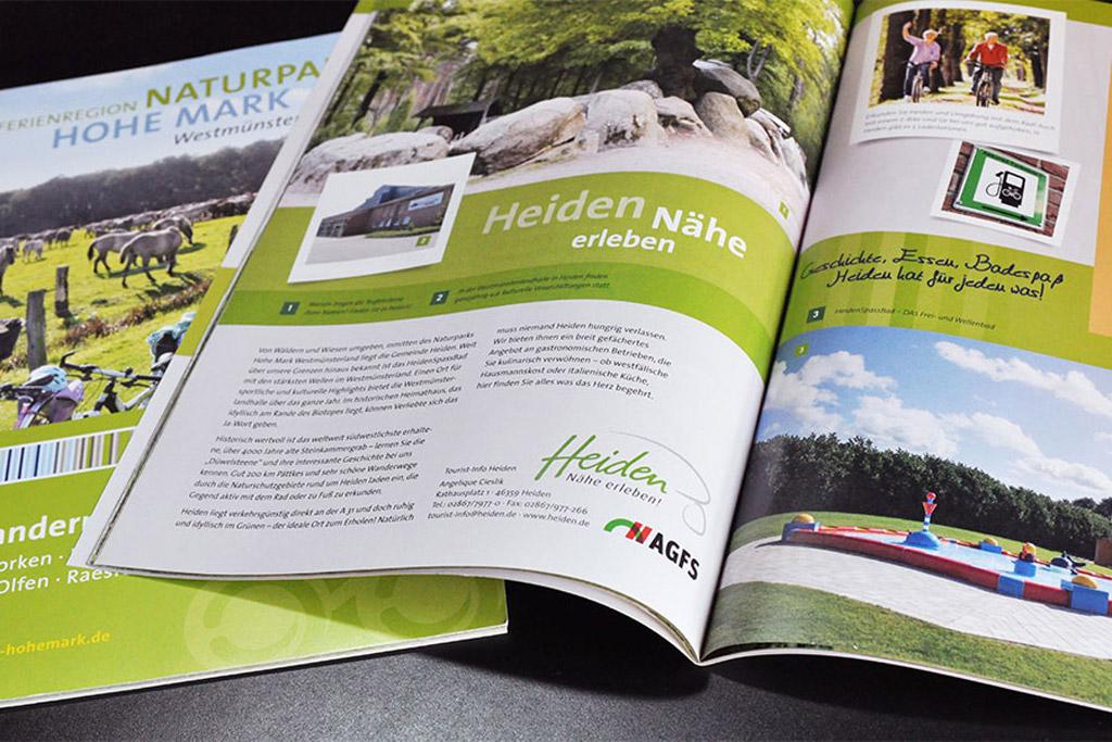 Gestaltung von Katalogen und Magazinen