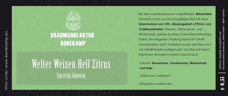 Etiketten für Brauerei Bonekamp Dülmen