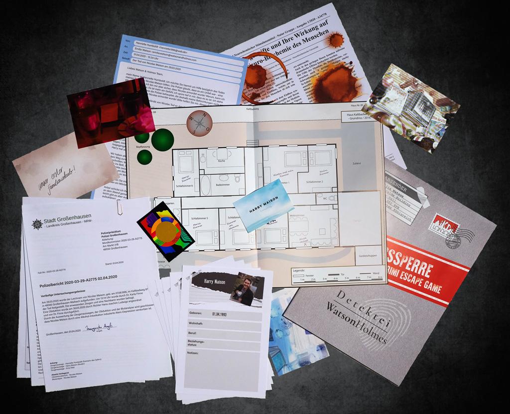 """Spannendes Druckprojekt: Das Krimi Escape Game """"Ausgangssperre"""""""