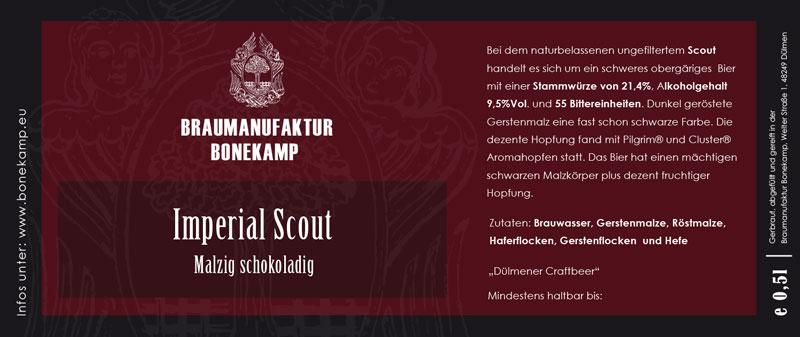 Flaschenetiketten für Braumanufaktur Bonekamp aus Dülmen - gedruckt von Satzdruck