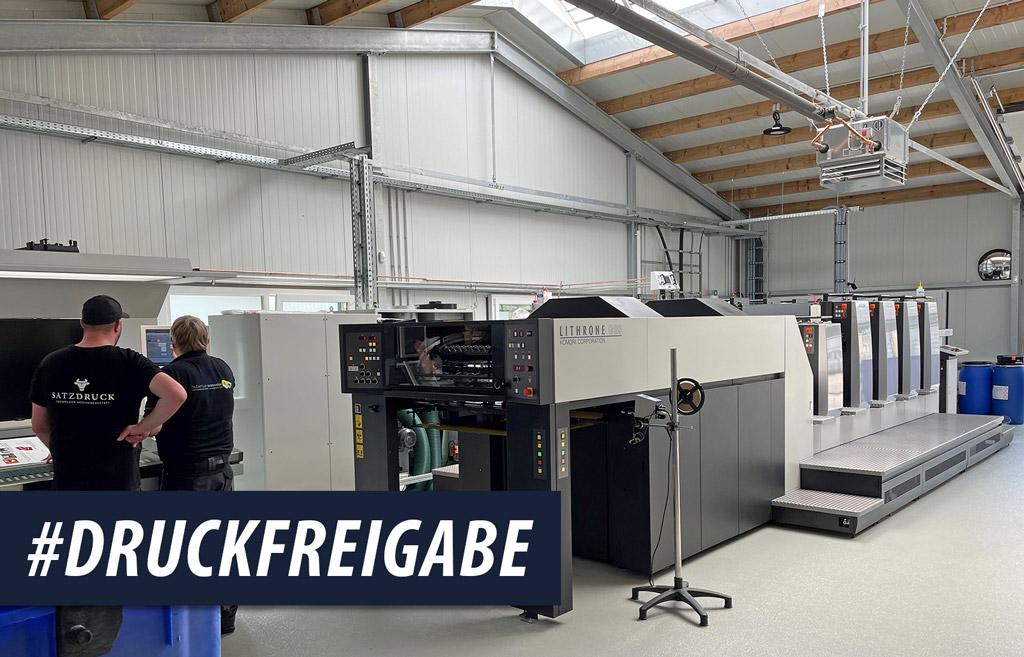 KOMORI LITHRONE G29 Offsetdruckmaschine – Druckfreigabe!