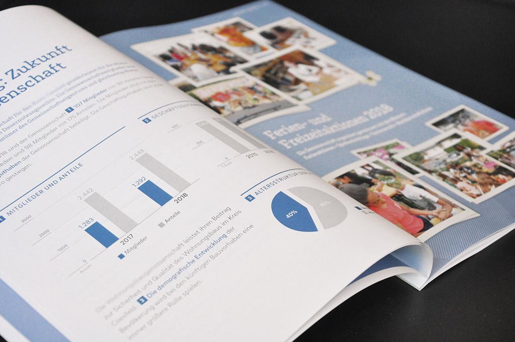 Geschäftsbericht aus der Druckerei Satzdruck Coesfeld