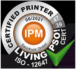 Living PSO! Zertifizierung | Druckerei Satzdruck Münsterland (NRW)