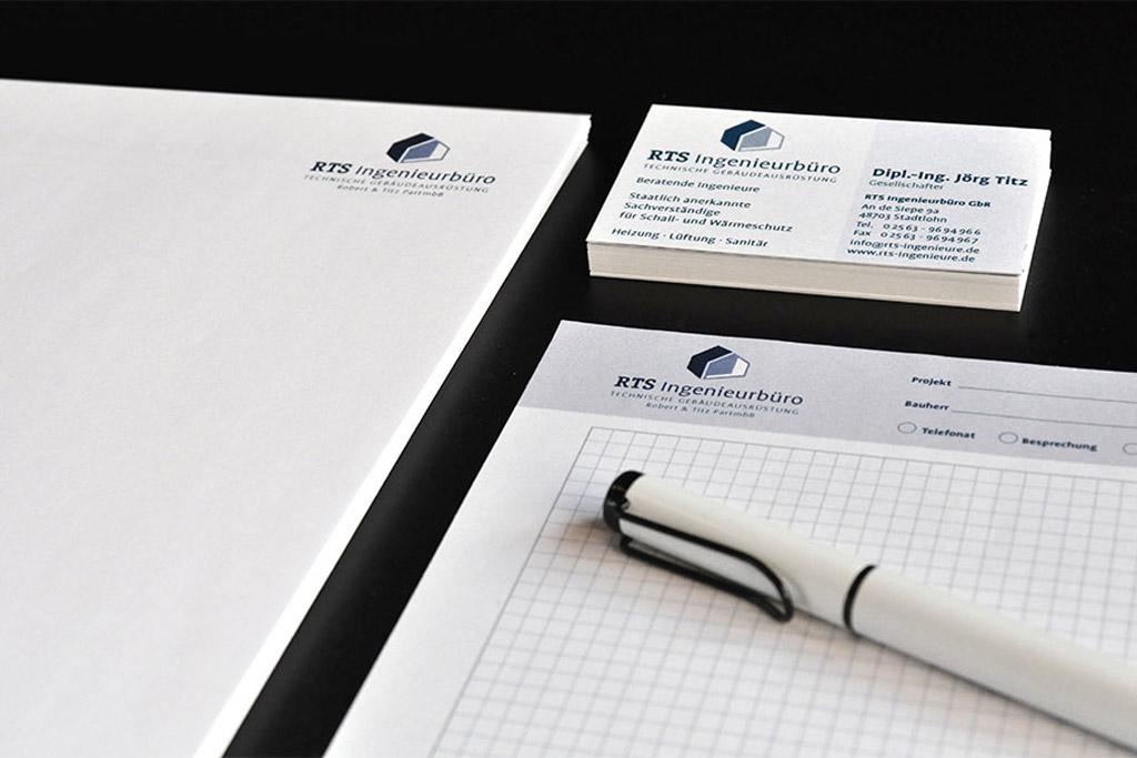 Geschäftsausstattung und Logoentwicklung von der Druckerei Satzdruck