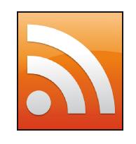 El logo distintivo de RSS es el famoso cuadro naranja