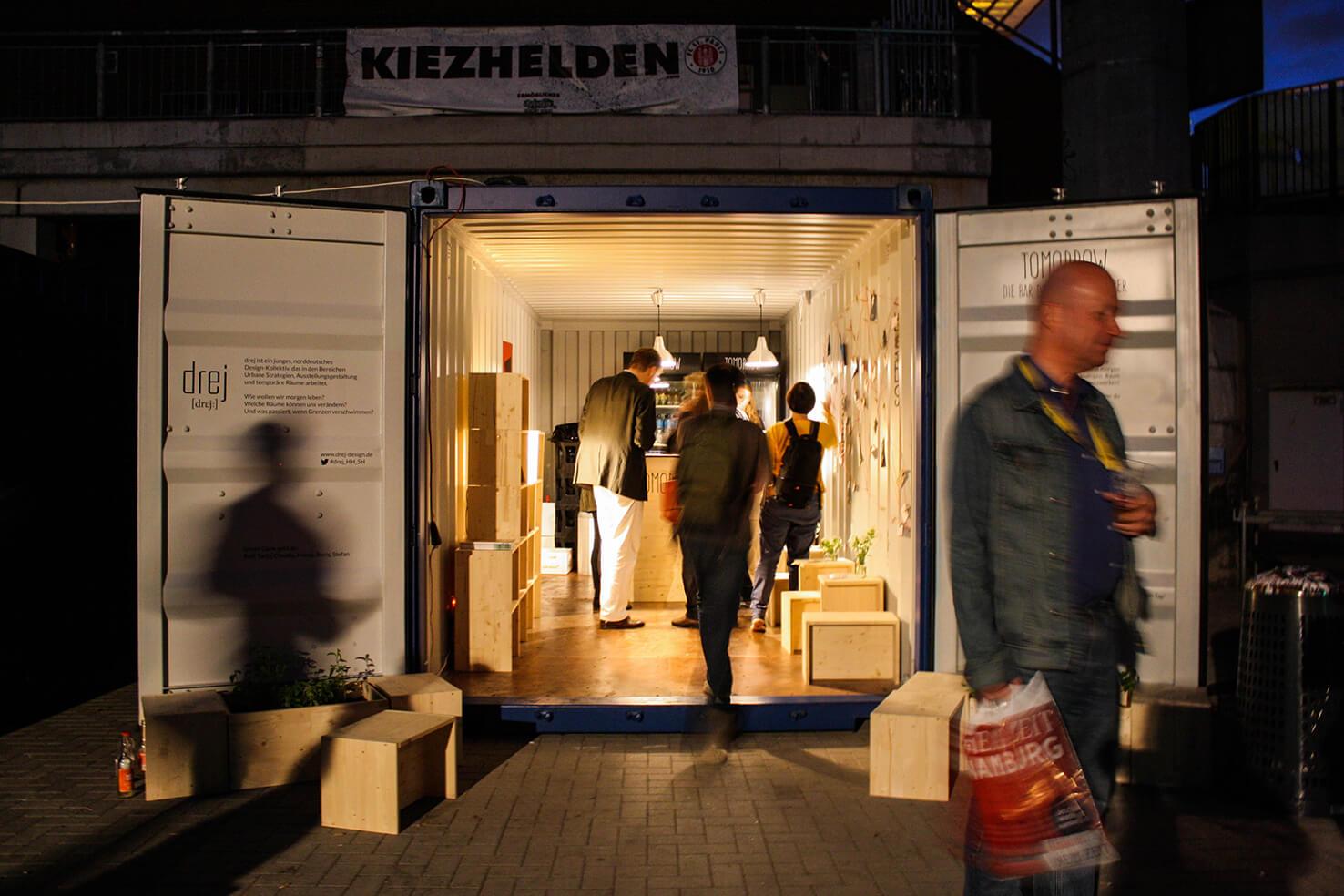 Bar Schiffsontainer Reeperbahnfestival Kiezhelden St. Pauli