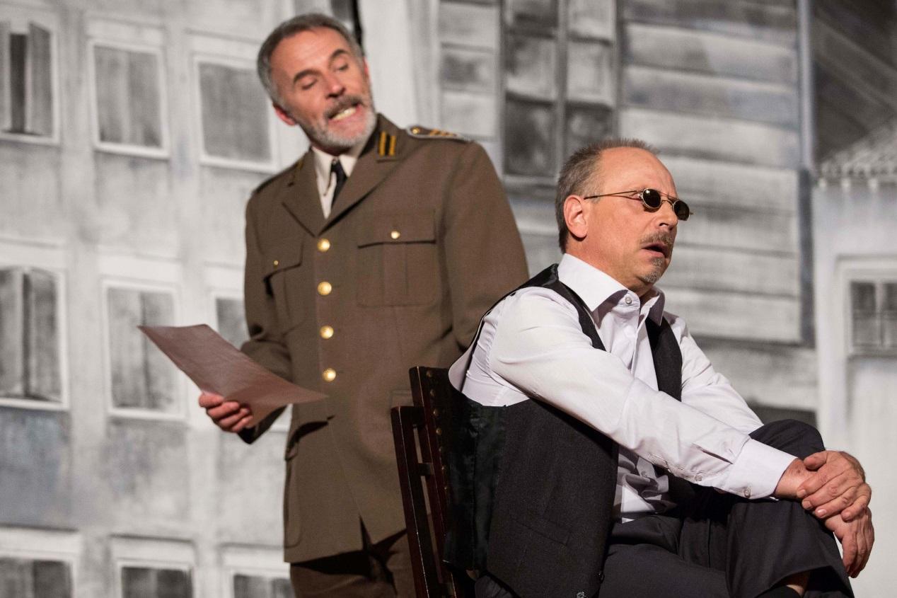 Ezio Baldo (giudice) e Valerio Milan (Eduardo Righes)