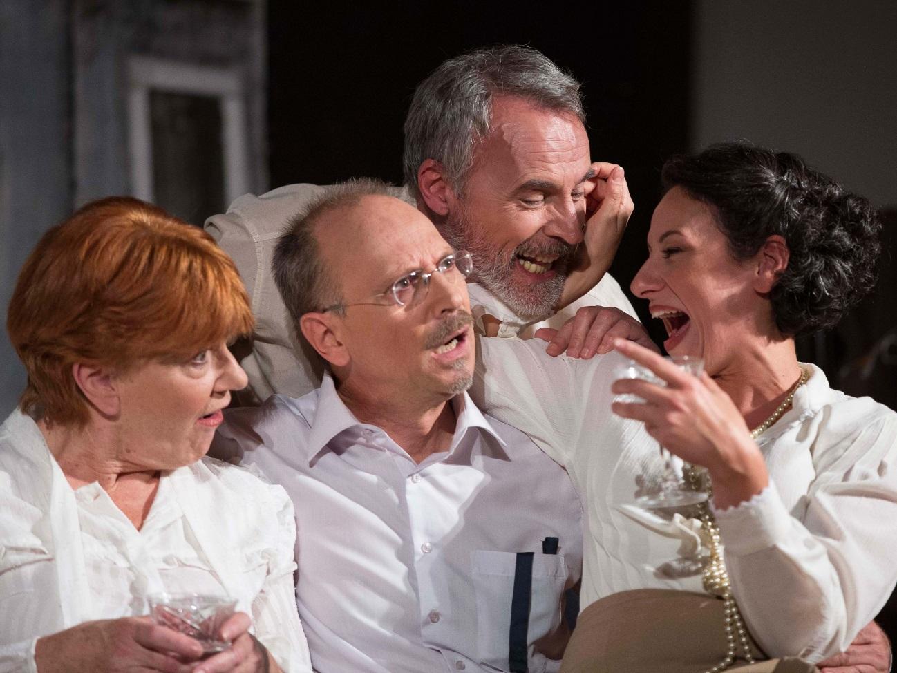 Giuliana Mattiazzi (Maria), Valerio Milan (Contarini), Ezio Baldo (Liberio Costa) e Dederica Domestici (Marguerite)