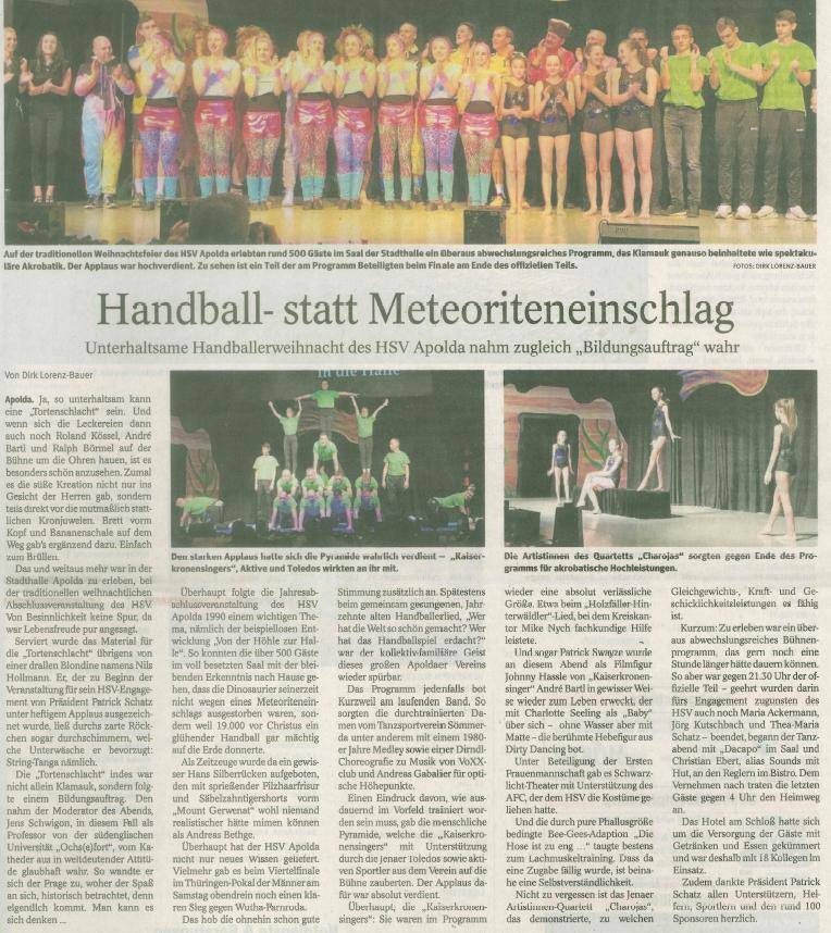 Bericht Thüringer Allgemeine vom 23.12.2019