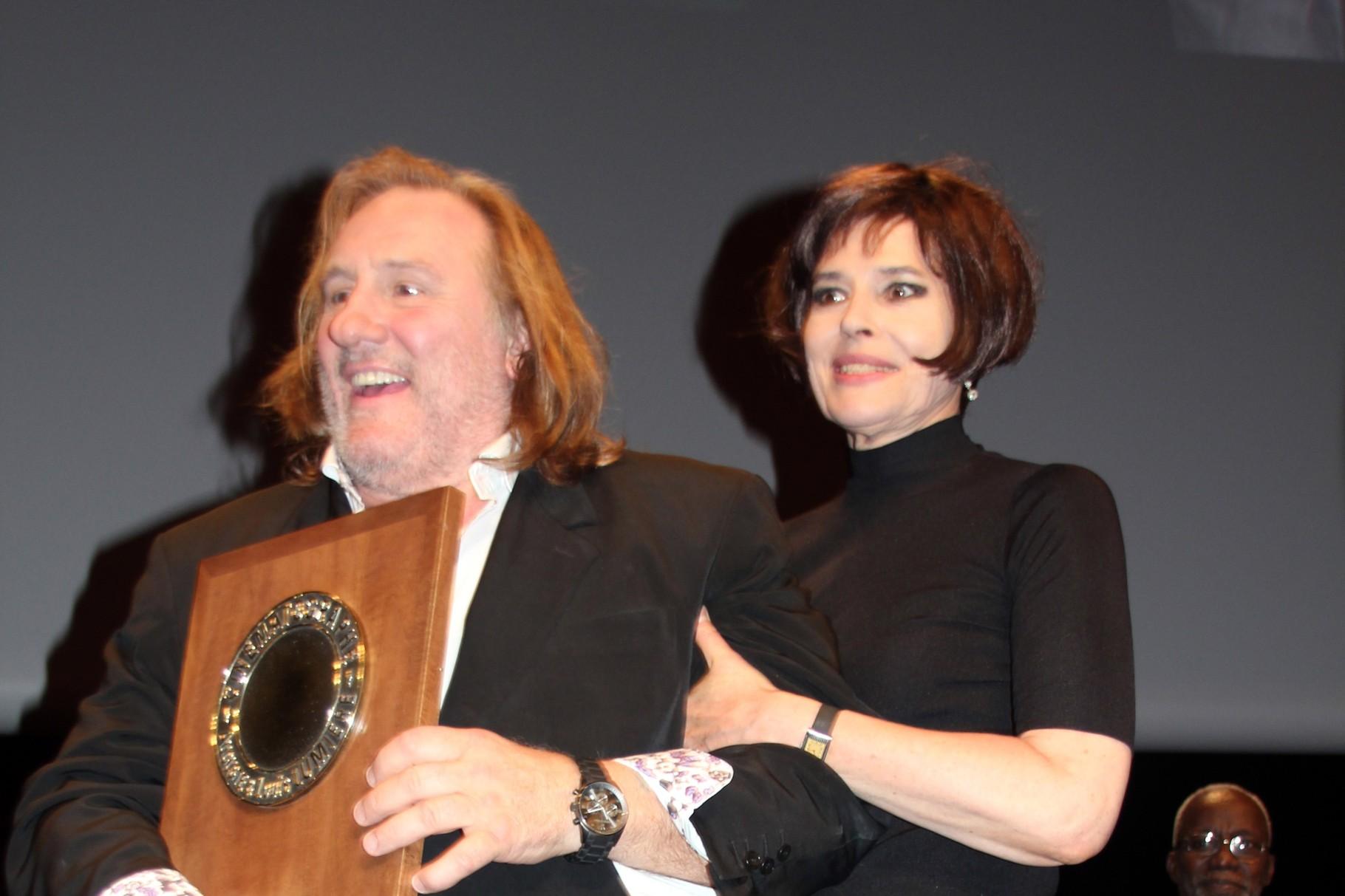 Gérard Depardieu et Fanny Ardant - Festival Lumière 2011 - Photo © Anik COUBLE