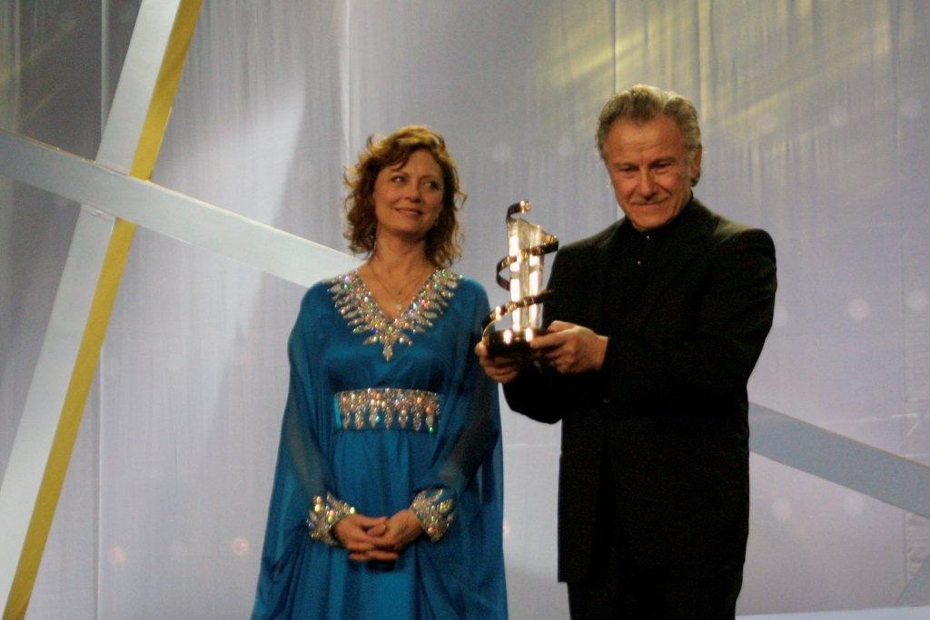 L'étoile d'or est remise à Harvey Keteil par Susan Sarandon - Festival de Marrakech 2010 © Anik COUBLE