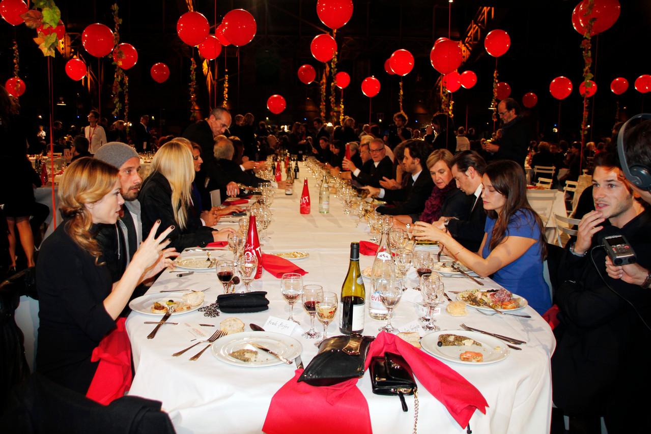 Table d'honneur du diner d'ouverture - Festival Lumière 2012 - Lyon - Photo © Anik COUBLE