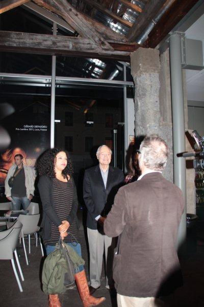 Alex Stapleton, Roger Corman et sa femme Julie,  accueillis par Thierry Fremaux - Festival Lumière 2011 - Lyon - Photo © Anik Couble